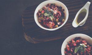 ensalada de remolacha y aceitunas